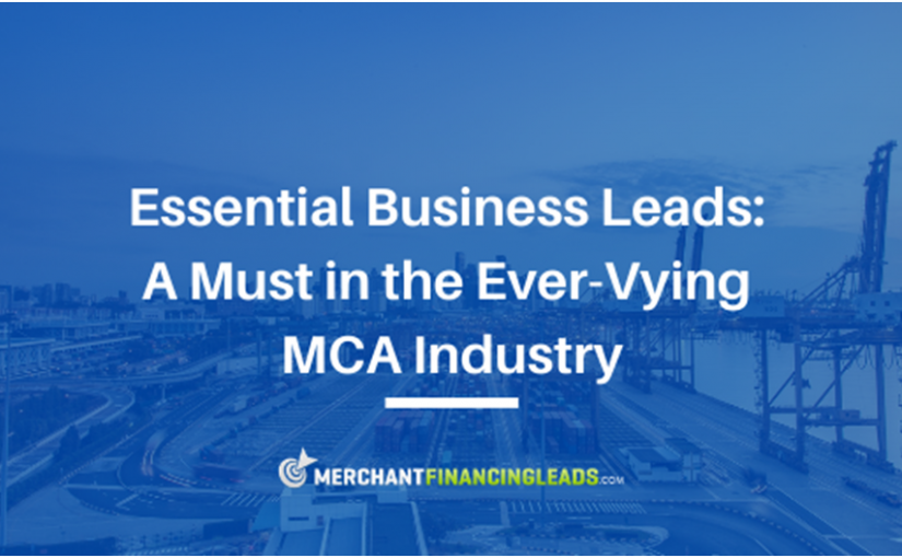 A Must in the Ever-Competitive MCA Industry